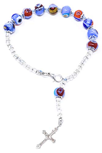 Beaded wire bracelet with 925 sterling silver Lapis lazuli memory wire Perfect gift for christmas for your love