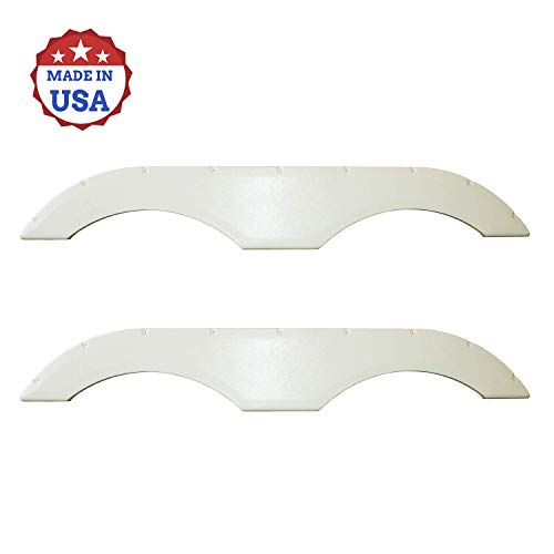 USAMADE Universal Fit Trailer RV Fender Skirts, Tandem Pair, Perfect for RV Campers and Trailers