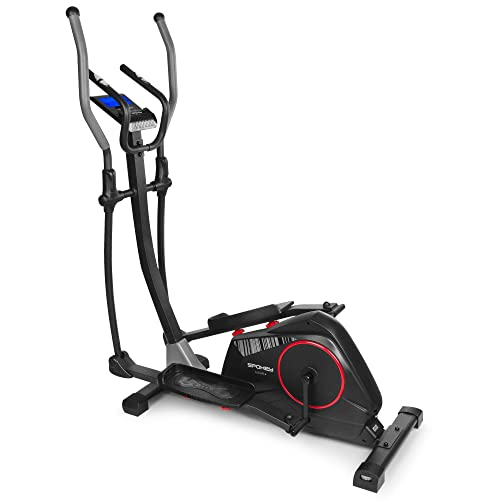 Spokey Alear Plus - Bicicleta elíptica, Resistencia magnética, Ajuste automático, Volante inercial de 8 kg, Color Negro