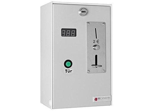 Münzautomat für 2 EUR Münzen, mit Türentriegelung, Zeiteinstellung und Münzprüfer