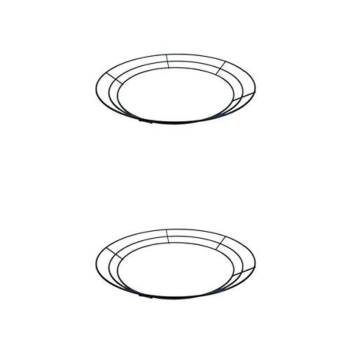 Kücheks 2 Pièces Rétro Métal Succulent Fil Guirlande Suspendue Planteur Air Plante Pots De Fleurs Conteneurs - Rond - 30 cm / 12 Pouces & 35 cm / 14 Pouces