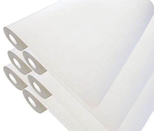 6 x Premium Renoviervlies 130g - 225m² Malervlies Anstrich-Vlies glatte überstreichbare Vliestapete weiß | je 37,5 qm 50 Meter Rolle – Strukturloses Zellstoff-Polyestervlies Rissabdeckend