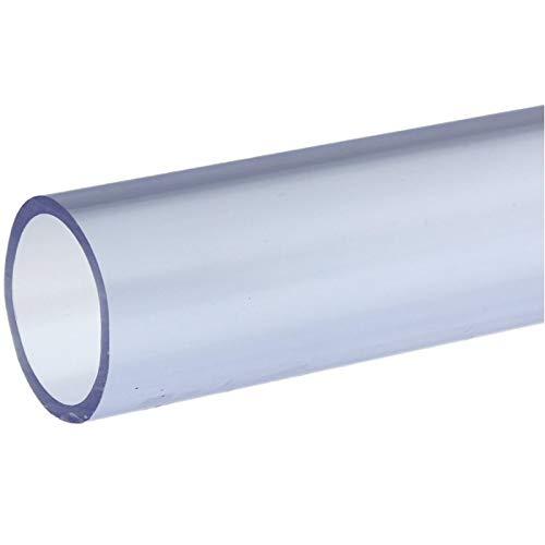 folien-zentrum PVC-U Rohr Klebekappe Winkel Klebemuffe Kugelhahn T-stück Druckrohr 1 Meter Ø 25mm - 50mm Garten Teich Koi Wasser (Rohr, 50mm)