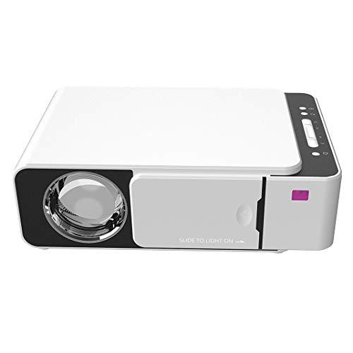 JVSISM proiettore, proiettore con sincronizzazione dello Schermo dello Smartphone, Supporto 1080P, 20. Ore di Luce, Compatibile con HDMI, USB, TV, Laptop, ECC. (Spina Europea)