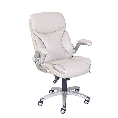 Syxfckc Las sillas de Oficina, Brazos Silla de Ascensor, 360 ° de rotación Puede Estar Inclinado, una Silla ergonómica Ordenador, Relleno de Alta Densidad de la Espuma, fácilmente deformado, estables
