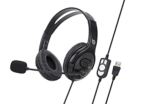 BigPassport Pro-Tech 493 Wired Over the Ear Headphone with Mic (Black)