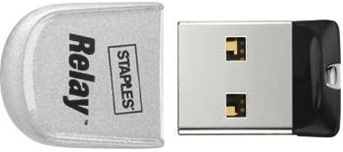 Staples Relay Micro 4GB USB 2.0 USB Flash Drive (Silver)