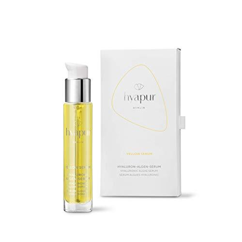 hyapur® YELLOW Serum 15ml gegen lichtbedingte Hautalterung, mit Hyaluronsäure und Algenextrakten für Gesicht, Hals und Dekolleté - aus der Hyaluron Algen Serie