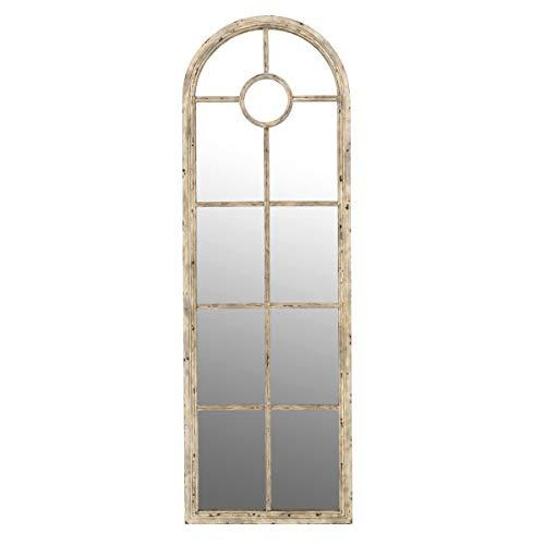 Pureday Spiegel Marie - Standspiegel in Fensteroptik - Vintage-Look - Antik Weiß - Höhe ca. 180 cm