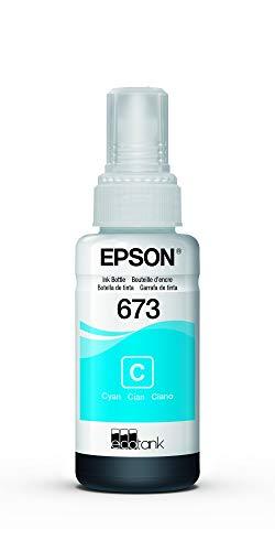 Garrafa de Tinta Original Epson EcoTank 673 Ciano - T673220