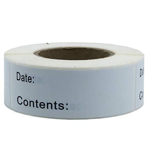 Etiqueta engomada de la etiqueta del almacenamiento de alimentos DIY boda decoración fecha etiqueta adhesivo para el hogar cocina