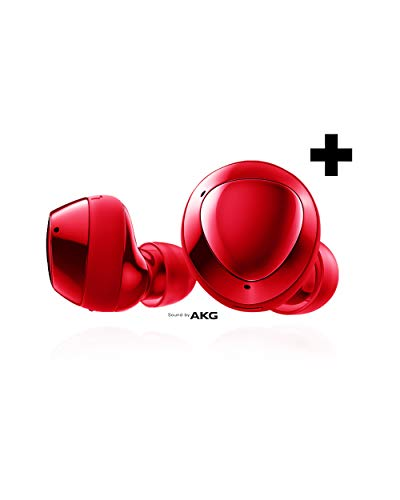 Samsung Galaxy Buds+ Plus, True Wireless Earbuds w/improved battery and call quality (Wireless Charging Case included), Red – US Version