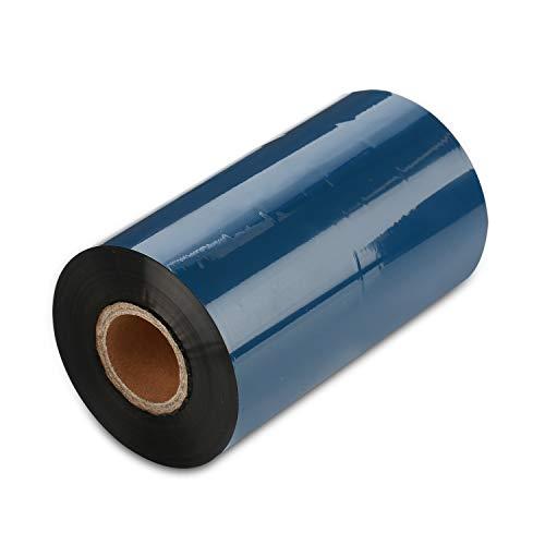 "CYTTR Thermal Transfer Ribbon -1ROLL 4.33"" x 984'/110mm x 300m Black Wax Resin Ribbons 1"" Core Ink Out for Zebra Sato Datamax Tsc TEC Printer"