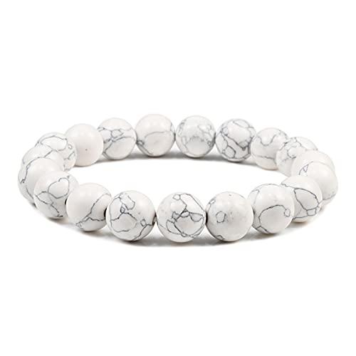 Overvloedi collares para las mujeres de piedra natural perlas volcánica lava ojo de tigre pulsera elástica hombres y mujeres joyería 10mmBlackline