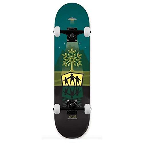 Alien Workshop Pro Yaje Shelter - Skateboard completo, 20,6 cm, colore: Verde