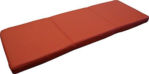 Quattro Meble Rot Echtleder Bankauflage Sitzkissen Lederkissen Sitzpolster Bank Auflage doppelt genähtes Echt Leder Kissen Sitzauflage (35 x 160 cm)