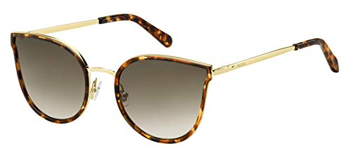 Fossil Fos 2087/S Gafas de sol, Multicolor (Hvna Gold), 55 para Mujer