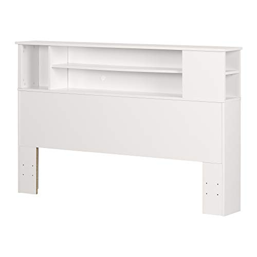 South Shore Vito Bookcase Headboard Pure White, Contemporary