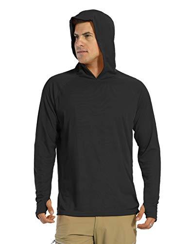 KEFITEVD Camiseta de manga larga para hombre, protección solar UPF 50+, con...