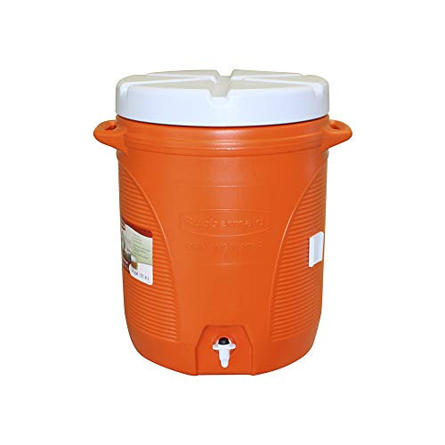 Rubbermaid Victory Jug Water Cooler, Orange, 10-gallon (FG16100111)