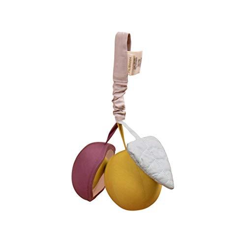 Filibabba Carillón de bayas y espejo, de algodón, 25 cm (Plum)