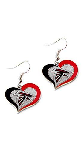Atlanta Falcons Ohrringe American Football NFL Rot Schwarz earrings