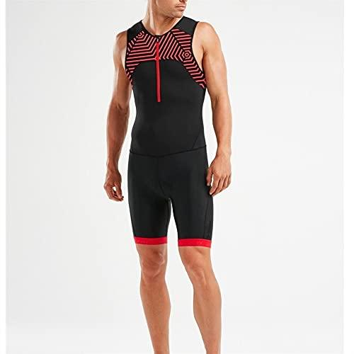 Triathlon Abiti da uomo TRI Vestiti per uomo Trisuit/Mens Premium Triathlon Suit Imbottito Triathlon Tri Suit Tuta (Color : Brown, Size : X-SMALL)
