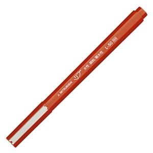 (まとめ) 三菱鉛筆 水性サインペン リブ極細 0.5mm 赤 L50.15 1本 【×60セット】 ds-1586334