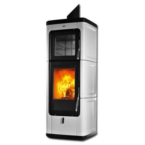 MCZ SAVA raumluftunabhängiger Kaminofen 7 kW Scheitholzofen Ofen Holzofen Farbe Sava-7-weiss