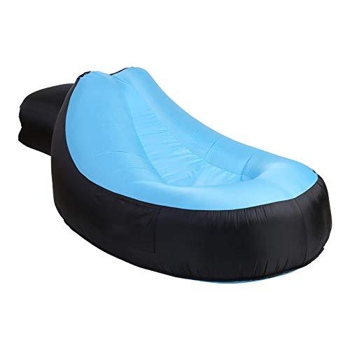 Aufblasbares Sofa Tragbare aufblasbare Sofa Liege Air Sofa Wasser Beweis Anti-Air Leaking Garten Möbel aufblasbare Stuhl für Home Beach Camping Blue