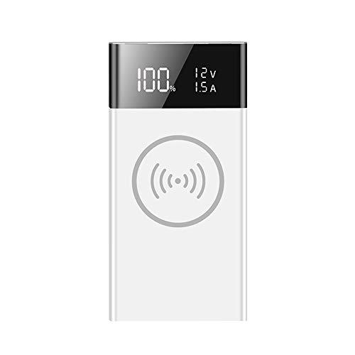ACAMPTAR Caja del Banco de EnergíA Paquete de BateríA de Carga InaláMbrica 6X18650 Cargador RáPido de Carga Inteligente DIY con Pantalla LED Inteligente