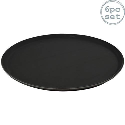 Plateau Noir antidérapant de la Collection de Vaisselle Argon - 40cm (16\