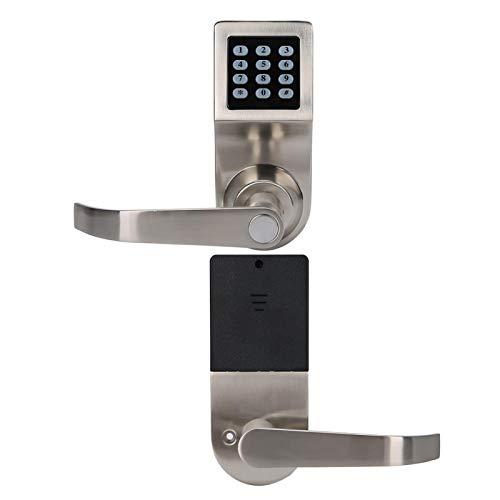 Cerradura de contraseña electrónica de inducción Cerradura de puerta digital inteligente con códigos de tarjeta IC y desbloqueo de llave Entrada de seguridad Plata