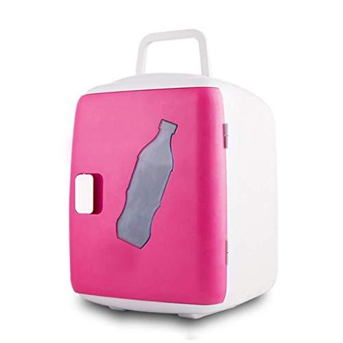 LXDDB Tragbarer Kühlschrank Mini Auto Kühlschrank Kompakte Gefriertruhe 12l Kleiner Elektrokühler Für Camping Angeln Picknick Im Freien und Grillparty - Rosa/Blau
