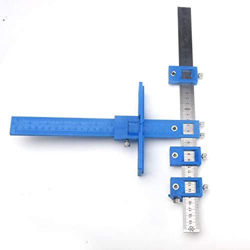 CALIDAKA Drill Guide Home Adjustable Cabinet Hardware Punch Drilling Lightweight Multifunctional Hole Woodworking
