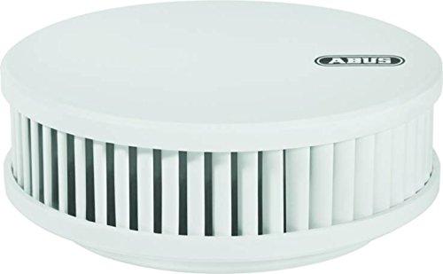 ABUS Rauchmelder RWM250 geeignet für Wohnräume und Kellerräume - 12 Jahre Batterie - Hitzewarnfunktion - 88db Alarmlautstärke - weiß - 09386