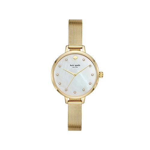Kate Spade Pearl quadrante & gold-tone mesh orologio da donna KSW1491
