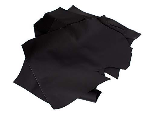 Luxflair - Retales de cuero prémium de alta calidad, 1 kg, en diferentes formas Piezas de piel para manualidades o costura de 100 % piel auténtica.
