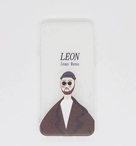 iPhoneケース クリア 7/8レオン 強化ガラス付き おしゃれ プレゼント シンプル TPU ペア おそろい 男女 プチプラ LEON MATILDA 透明なiPhoneケース (LEON)