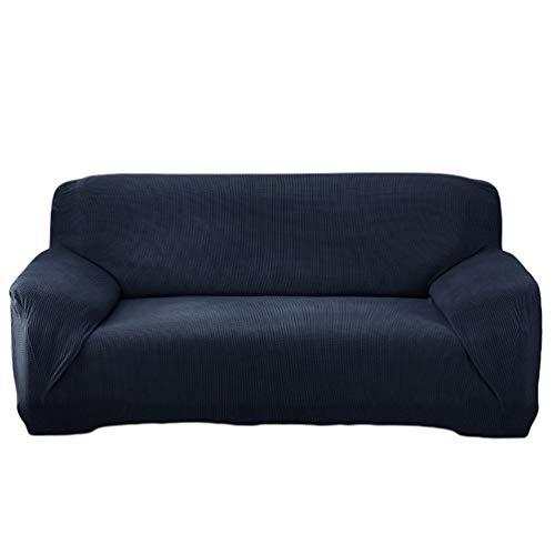 Heheja Sofabezug Stretch Sofa Sesselbezug Elastisch rutschfest Elastisch Ärmel Haushalt Klein Karierten Stoffbezug Marine