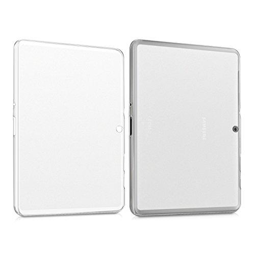 kwmobile Funda Compatible con Samsung Galaxy Tab 2 10.1 P5100/P5110 - Carcasa para Tablet de Silicona TPU - Cover en Transparente Mate