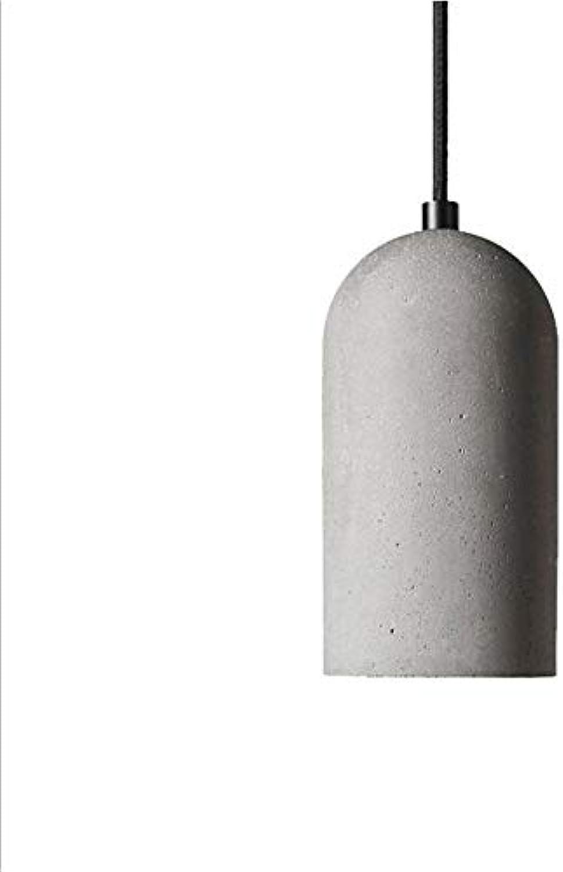 OLLVU Retro alte Zementlampe Nordic Moderne kreative Persnlichkeit Restaurant Kronleuchter einzigen Kopf Langen Rohr Kronleuchter (Farbe   Warm Light)