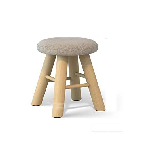 JIAX Taburete De Almacenamiento Multifuncion Fashion Solid Wood Kruk Schoenen Kruk Thick Square voetkruk Sofa Kruk Small Seat voet stoel 6 kleuren