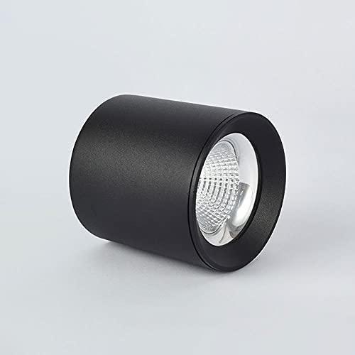 Siet LED Techo Spotlight Superficie Montado Downlight, Lámpara de Acento de Aluminio de Aluminio de Aluminio de Techo Moderno (Color : Black-9W-6000k)