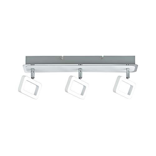 Paulmann 66640 - Lámpara de techo (3 x 4,5 W, 230 V, metal), color blanco mate y cromado