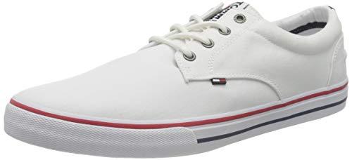 Tommy Hilfiger Tommy Jeans Textile Sneaker, Zapatillas para Hombre, Blanco (White 100), 41 EU