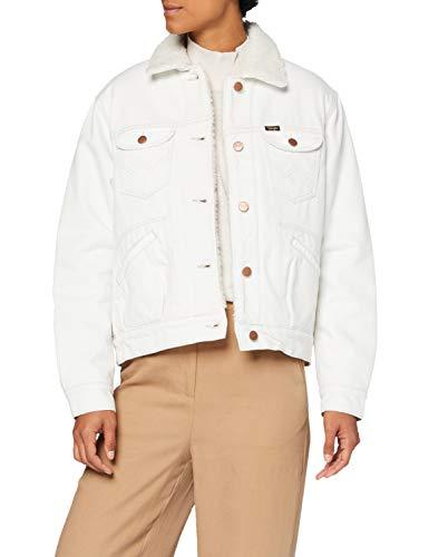 Wrangler Sherpa Friends Jacket Chaqueta vaquera, Color blanco, M para Mujer