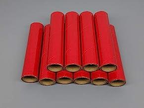 "8 FIREWORKS PYRO Red//White//Blue Cardboard Tubes 1-1//4/"" x 6/"" x 3//32/"" NEW"