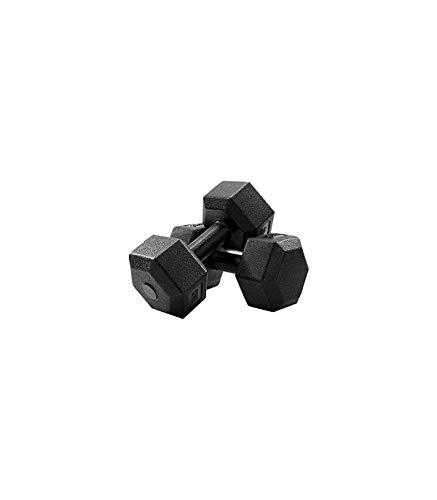 Riscko Pack de Mancuernas Hexagonales | Juego de Mancuernas hexagonales con Revestimiento en PVC | 2 Mancuernas de 7,5 Kg | 15 Kilos