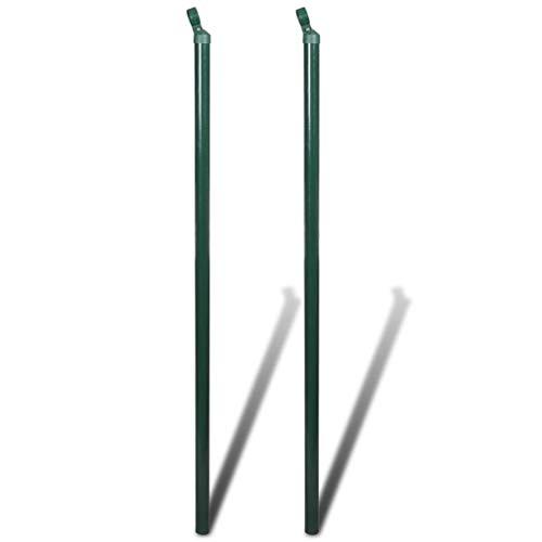 vidaXL 2X Zaunpfosten 150 cm Zaunpfahl Zaunstrebe Pfosten für Maschendrahtzaun